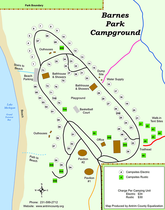Barnes Park Campground Map