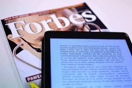 Forbes Magazine and Tablet