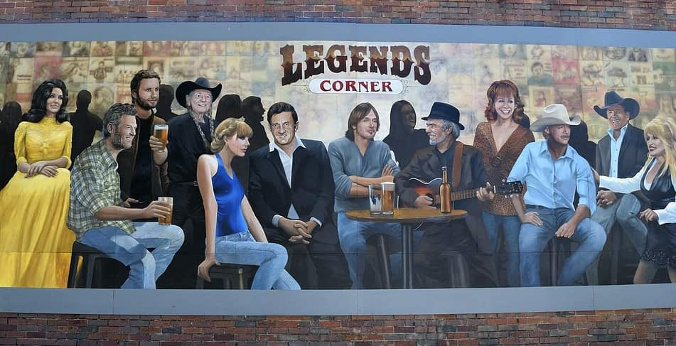 Nashville Wall Mural Country Stars